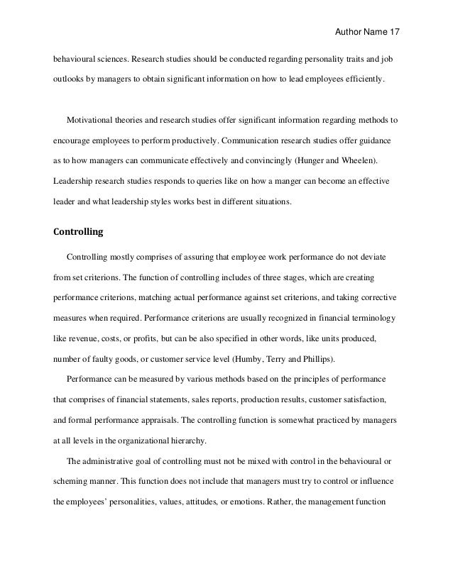 personal traits essay