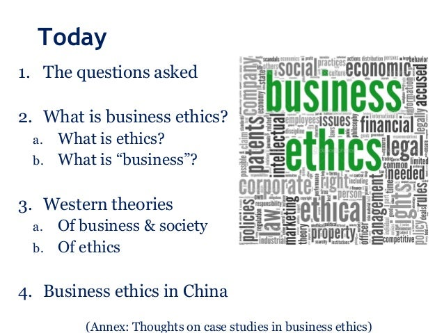 the importance of ethics and business in china China: issues of the economic system, of corporate ethics, and of management  after commenting on the role of business ethics for the social development in.