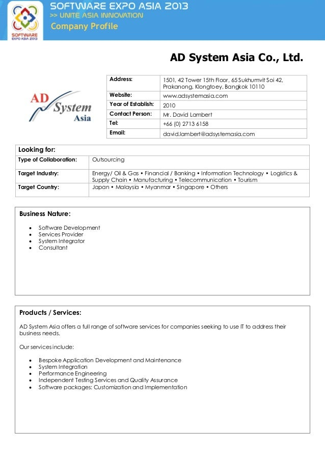 Asian company profiles ltd