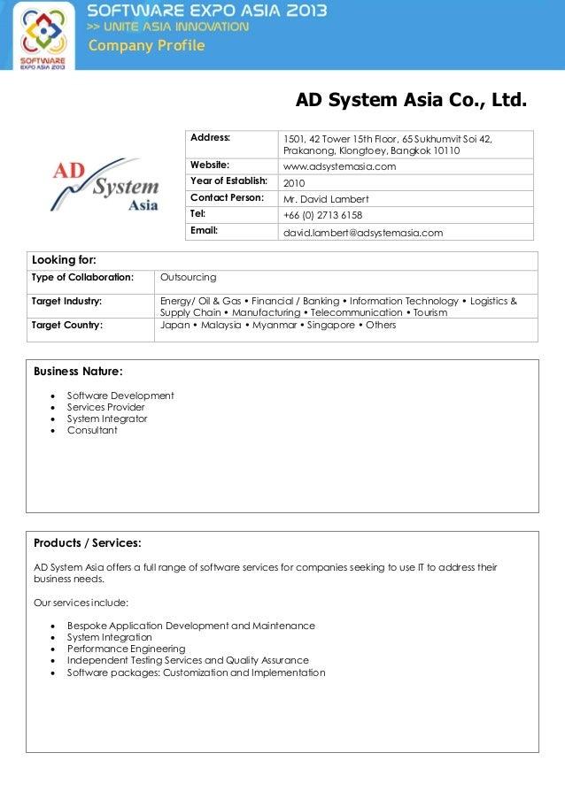 Asian company profiles ltd