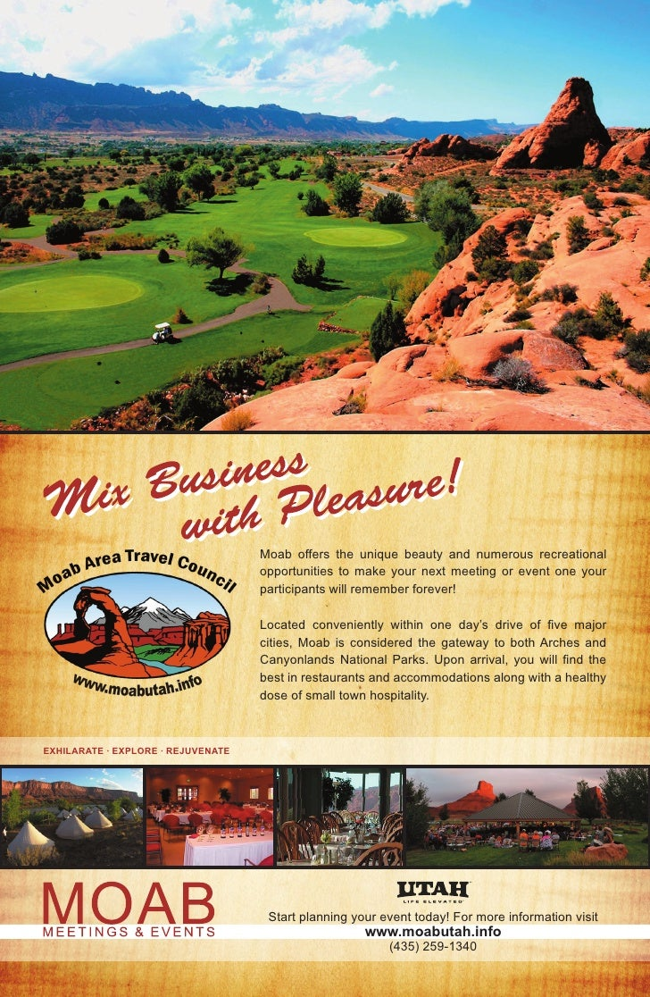 Moab offers the unique beauty and numerous recreational                                     opportunities to make your nex...