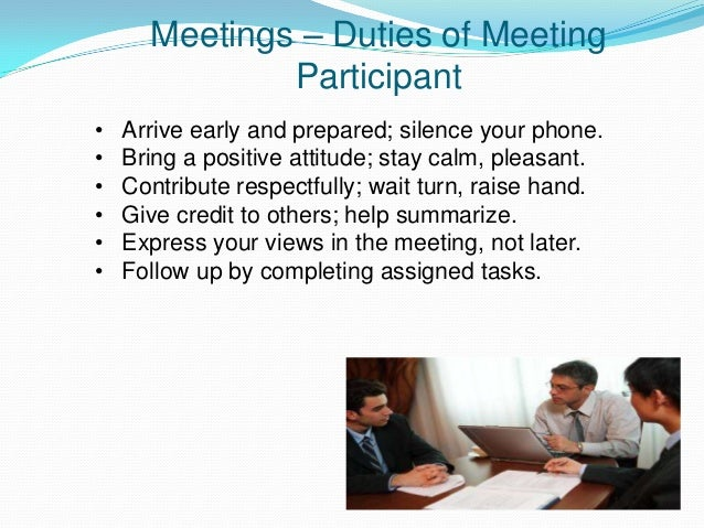 Minutes of the meeting The main things to remember when you are taking minutes are: Listen carefully to the discussion. Do...