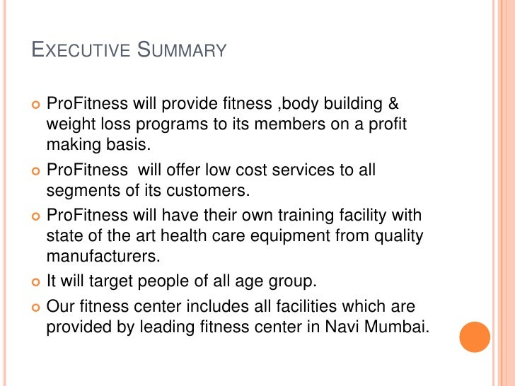 business plan for a gym free