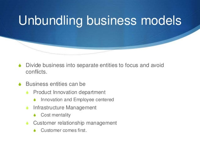 unbundled business models arms focus on Procureability tm transforms traditional, outdated consulting and staffing models by offering advisory and resource support on our clients' terms clients have access to unbundled resources, plus the ability to selectively add value through leading-edge methodologies, the latest best practices, and specialized insight and advice — an approach unheard of in traditional consulting and.