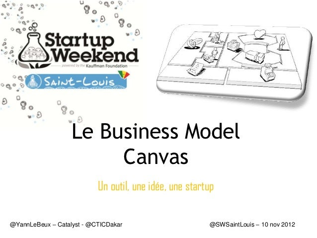 Le Business Model                        Canvas                           Un outil, une idée, une startup@YannLeBeux – Cat...