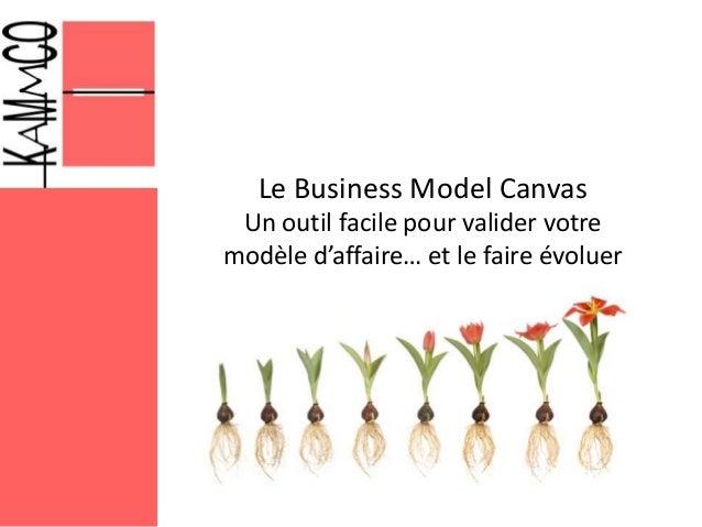 Le Business Model Canvas Un outil facile pour valider votre modèle d'affaire… et le faire évoluer