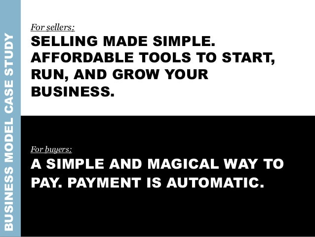 For sellers: SELLING MADE SIMPLE. AFFORDABLE TOOLS TO START, RUN, AND GROW YOUR BUSINESS. For buyers: A SIMPLE AND MAGICAL...