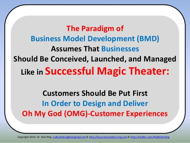 Copyright 2010. Dr. Rod King. rodkuhnking@sbcglobal.net & http://businessmodels.ning.com & http://twitter.com/RodKuhnKing ...