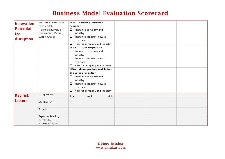evaluation of the business model for Ultimately, customers are the only relevant judges of your business model  however, even before you test your model in the market, you can.