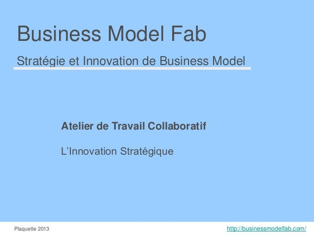 Business Model Fab Stratégie et Innovation de Business Model  Atelier de Travail Collaboratif L'Innovation Stratégique  Pl...