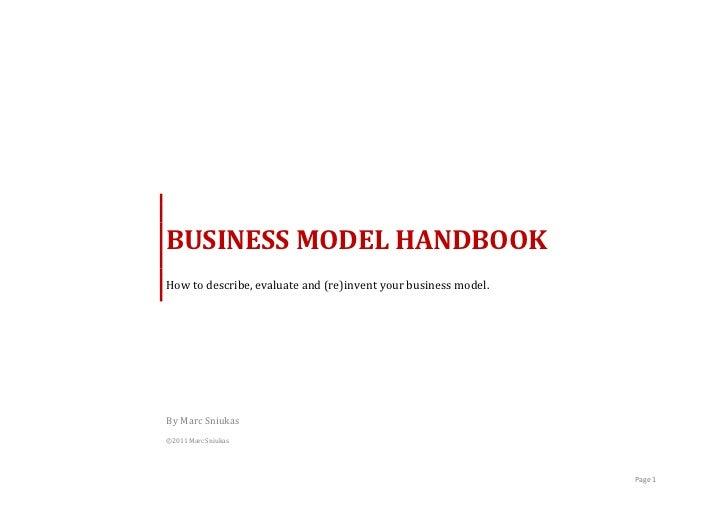 BUSINESS MODEL HANDBOOK        How to describe,...