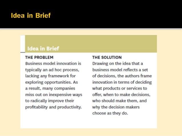  การสร้างนวัตกรรมรูปแบบธุรกิจ (Business model innovation) เป็นสิ่งที่วิเศษ  เพราะเป็นวิธีเรียบง่ายที่สุด ไม่ต้องอาศัยเทค...