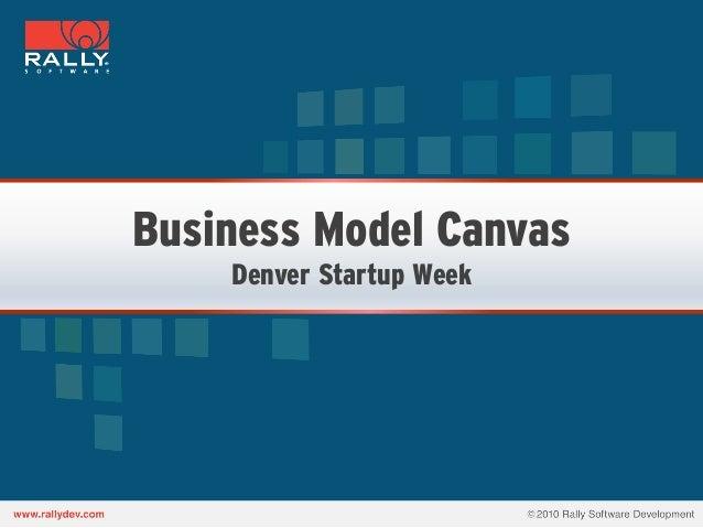 Business Model Canvas    Denver Startup Week