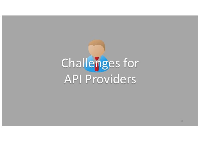 11 Challengesfor APIProviders