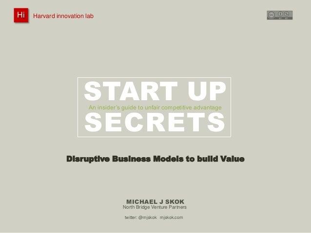Harvard innovation lab :       Michael J Skok :           Startup Secrets :   Business Model HiHi    Harvard innovation la...