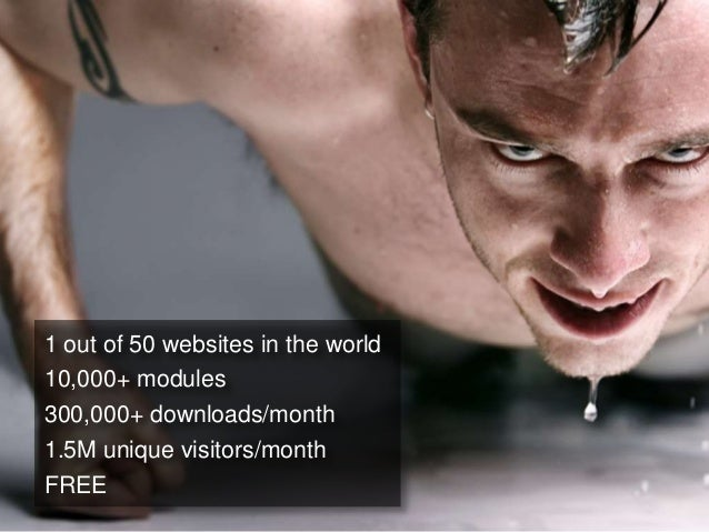 1 out of 50 websites in the world10,000+ modules300,000+ downloads/month1.5M unique visitors/monthFREE