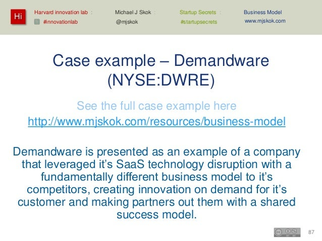 Demandware business model – simplified summary   Create: Development plus LINK partnerships    – Traditional R&D with lev...