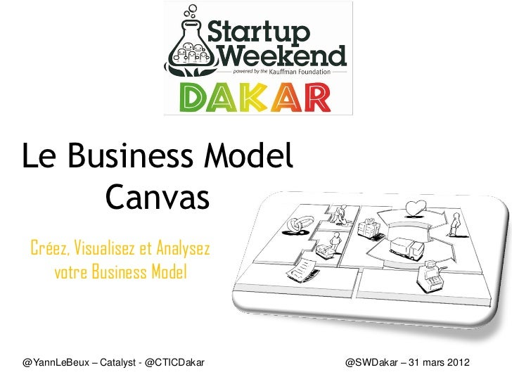 Le Business Model     Canvas Créez, Visualisez et Analysez    votre Business Model@YannLeBeux – Catalyst - @CTICDakar   @S...