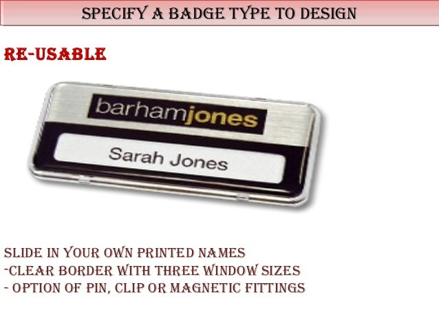 business name badges