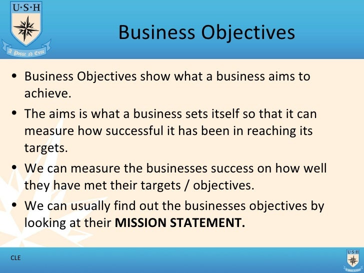 objectives of business Managing a project calls for clear objectives after all, a project's outcomes may be the products or services you develop or the results of using these products.