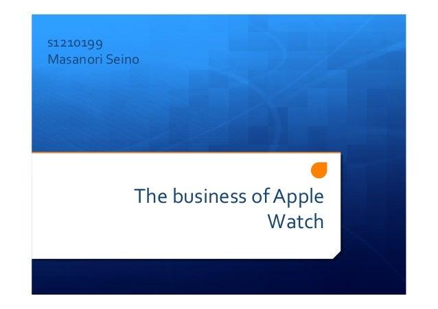 The  business  of  Apple   Watch s1210199   Masanori  Seino