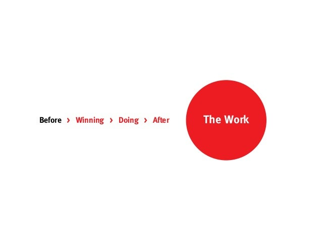 Before > Winning > Doing > After   The Work