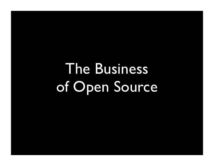 The Business of Open Source