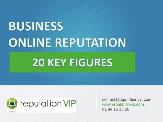E-réputation des entreprises : 20 chiffres clés  www.reputationvip.com  contact@reputationvip.com  www.reputationvip.com  ...