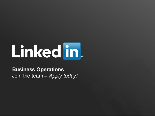Business OperationsJoin the team – Apply today!