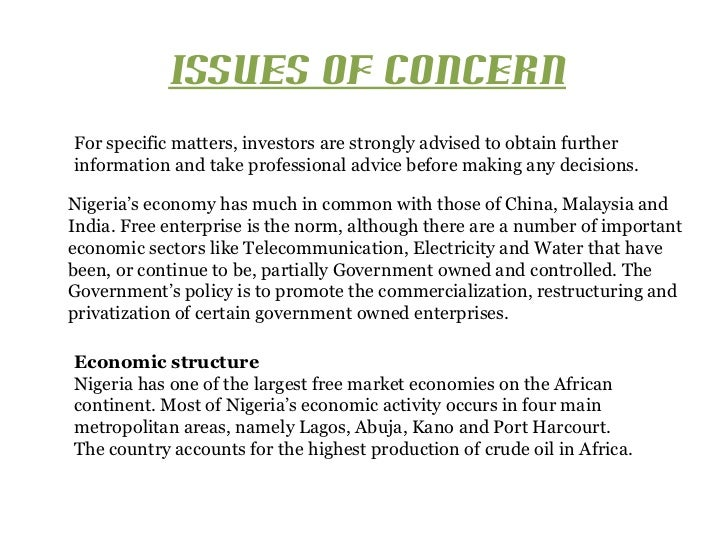 ISSUES OF CONCERNFor specific matters, investors are strongly advised to obtain furtherinformation and take professional a...