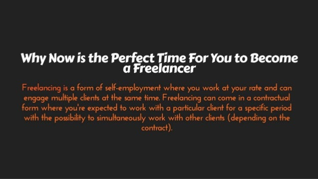 BusinessOTOP - Why Now is the Perfect Time For You to Become a Freelancer