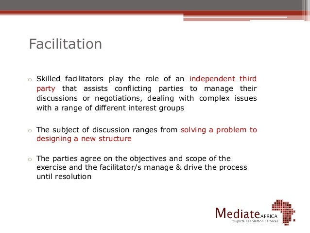 A discussion on the various methods of court related alternative dispute resolution