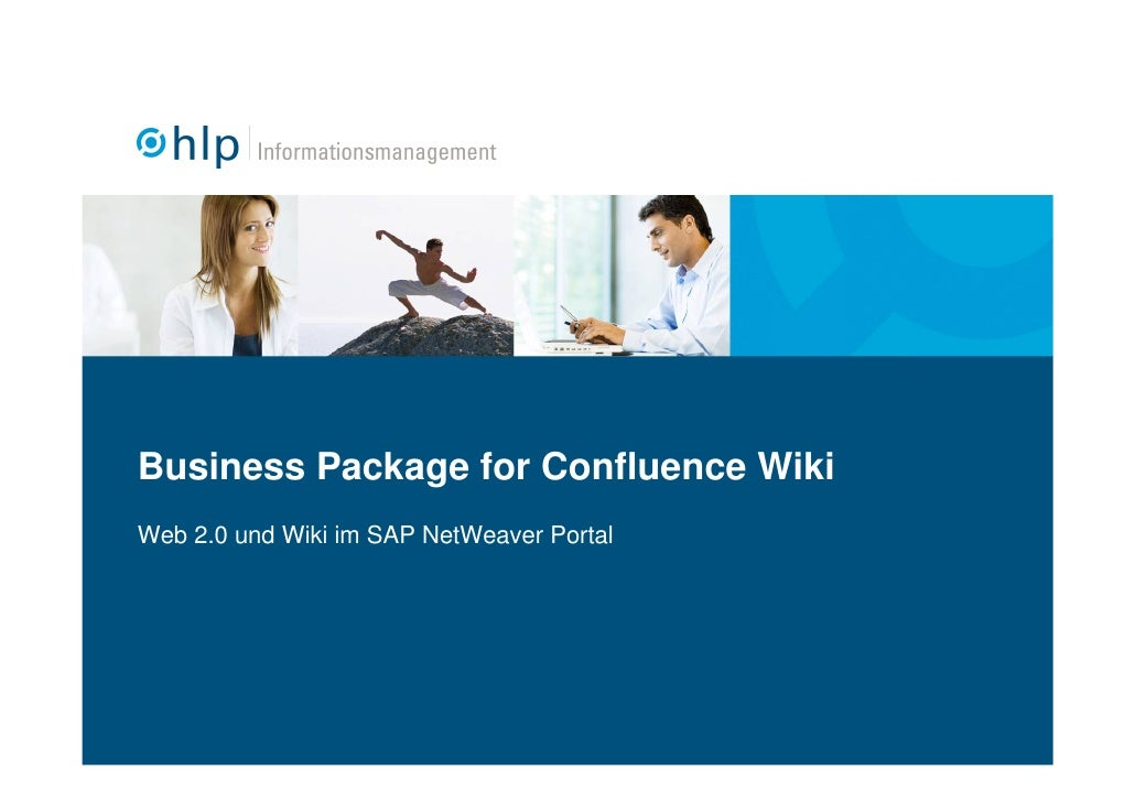 Business Package for Confluence Wiki Web 2.0 und Wiki im SAP NetWeaver Portal