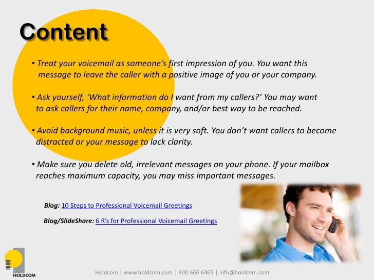 Business and personal professional voicemails 3 content treat your voicemail m4hsunfo
