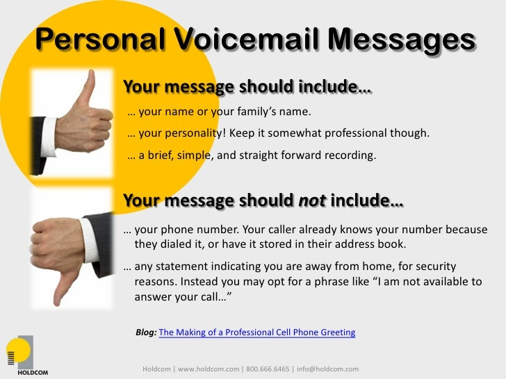 voice message template - business and personal professional voicemails