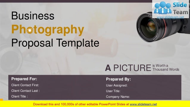 Business Photography Proposal Template Powerpoint Presentation Slides