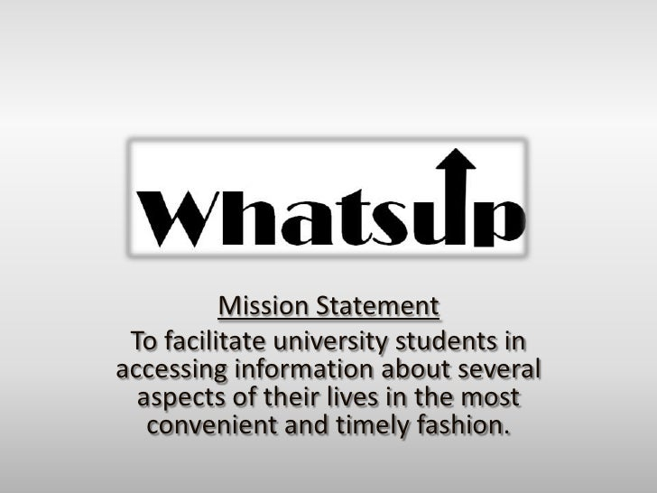 Mission Statement<br />To facilitate university students in accessing information about several aspects of their lives in ...