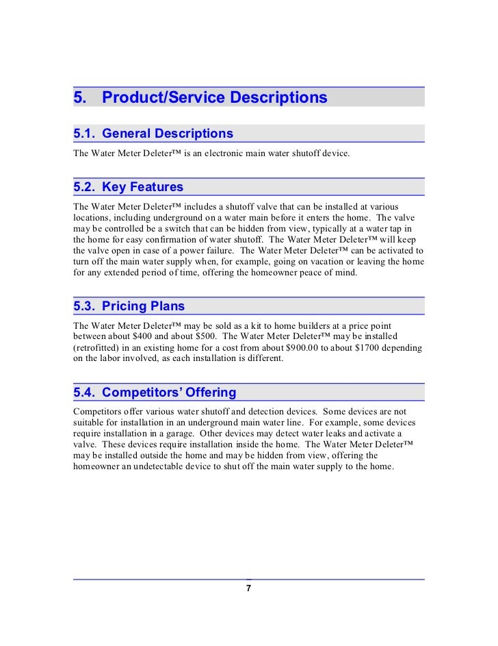 Plumbing Services Business Plan