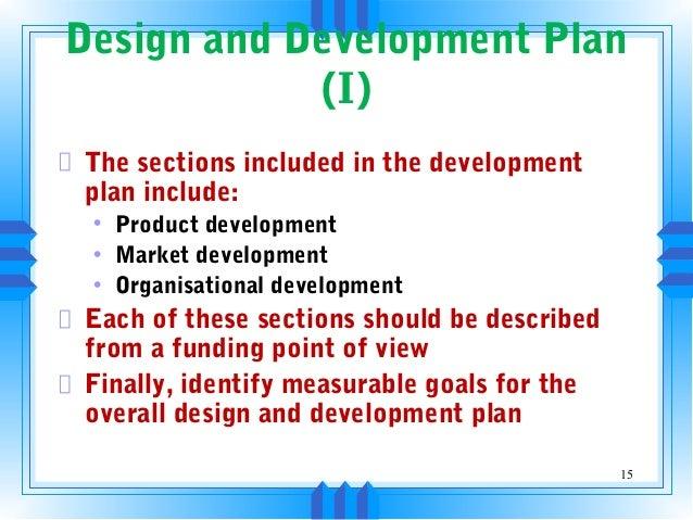 design development plan business plan