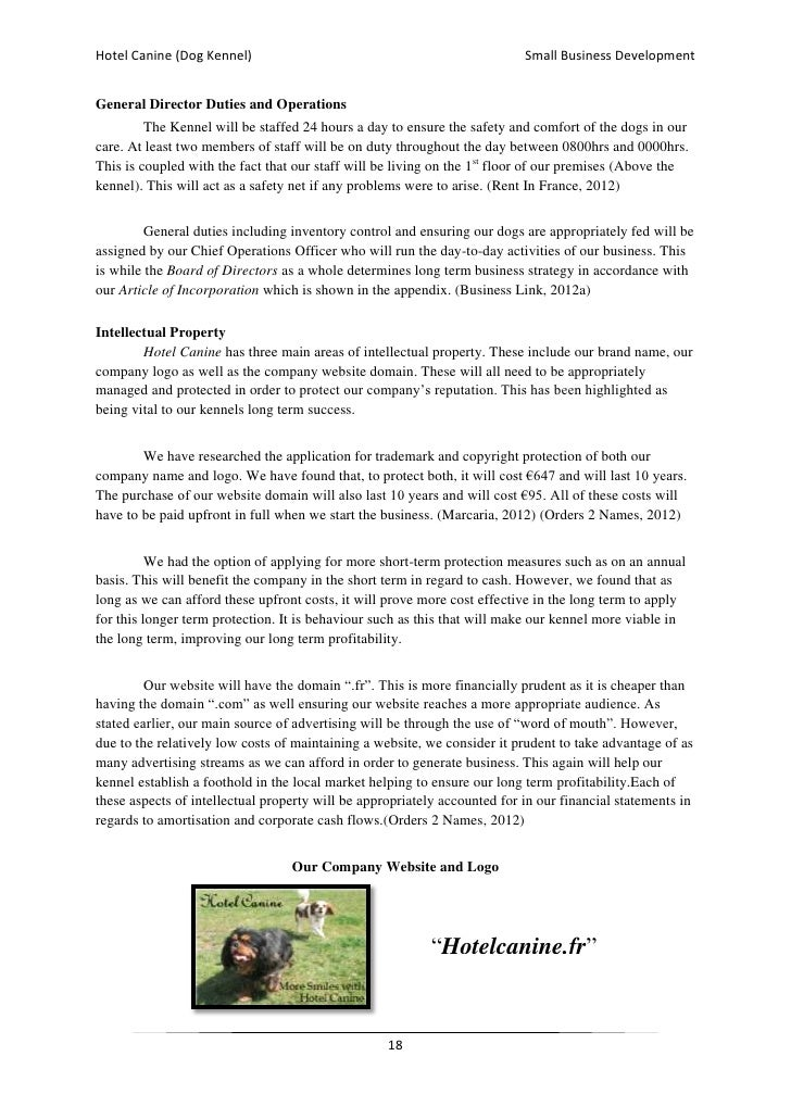 mission statement for dog boarding business