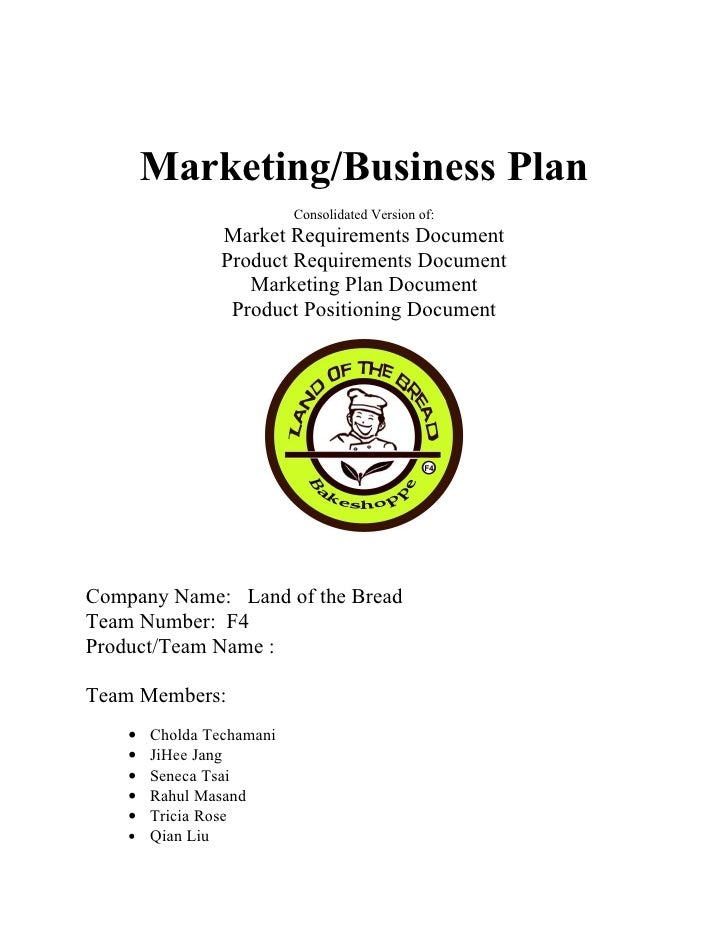 Marketing/Business Plan                          Consolidated Version of:                Market Requirements Document     ...