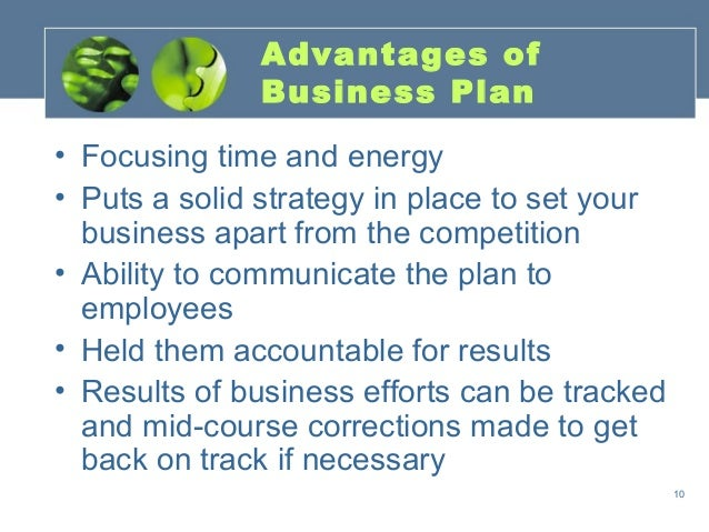 Advantages of having a business plan