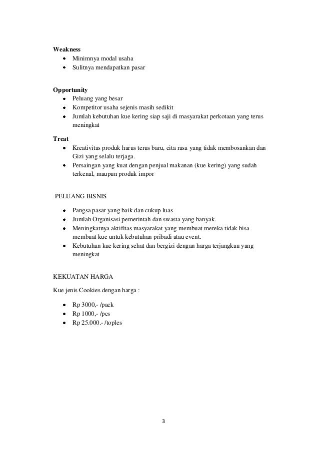 Business Plan Kue Hewir