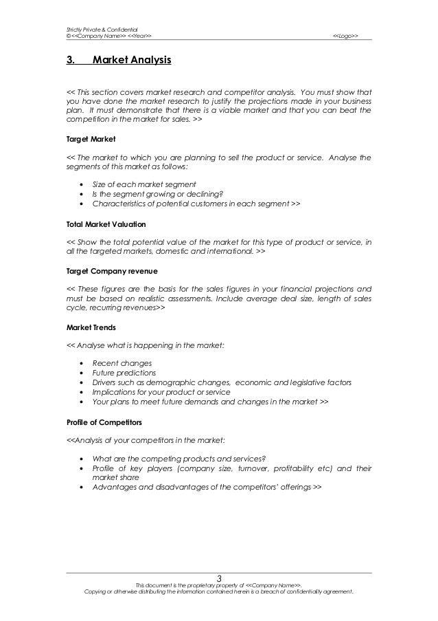 Business Plan Market Research Best Market - Market analysis template business plan