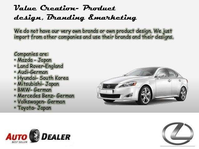 Business plan on Car Dealership.