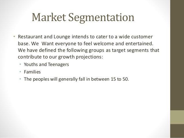market segmentation for restaurant services