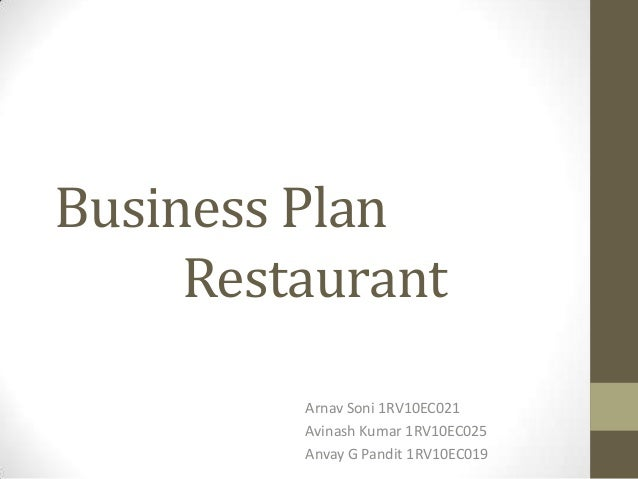 sample business plan restaurant .ppt
