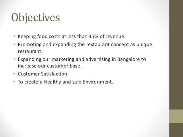 Restaurant business plan presentation