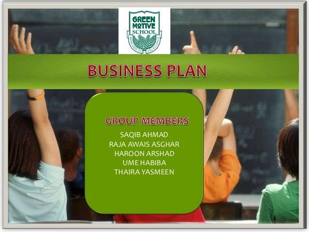 business plan of school presentation