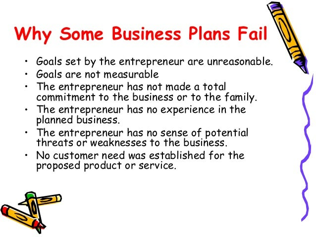 Business plan failure